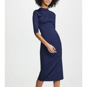 Alice + Olivia Fitted Mockneck Dress - Navy - NWT